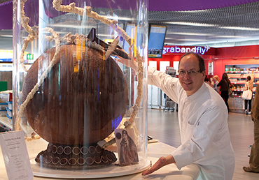 Globe of chocolate at Schiphol AirPort